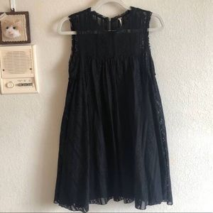 XS Free people Black Baby Doll Dress Worn Once